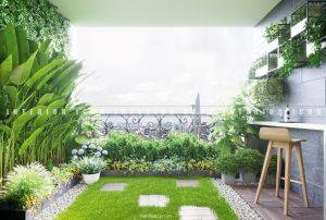 thiết kế nội thất chung cư tân cổ điển - ban công