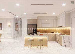 thiết kế nội thất chung cư tân cổ điển - quầy bar