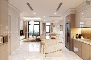 thiết kế nội thất chung cư tân cổ điển - nhà bếp