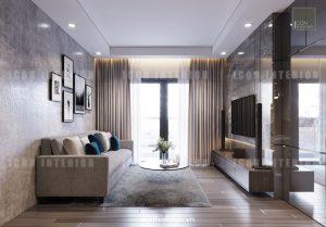 dự án the gold view quận 4 - thiết kế phòng khách