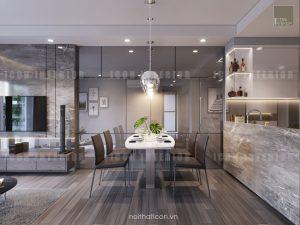 dự án the gold view quận 4 - thiết kế phòng ăn