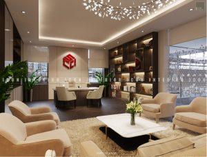 thiết kế nội thất văn phòng tphcm - phòng chủ tịch ảnh 2