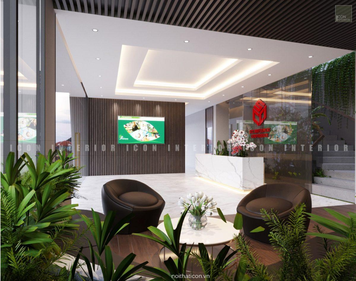 thiết kế nội thất văn phòng tphcm - tiền sảnh ảnh 3