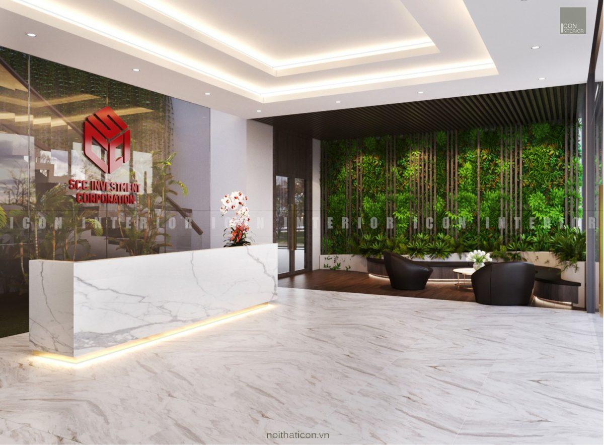 thiết kế nội thất văn phòng tphcm - tiền sảnh ảnh 2
