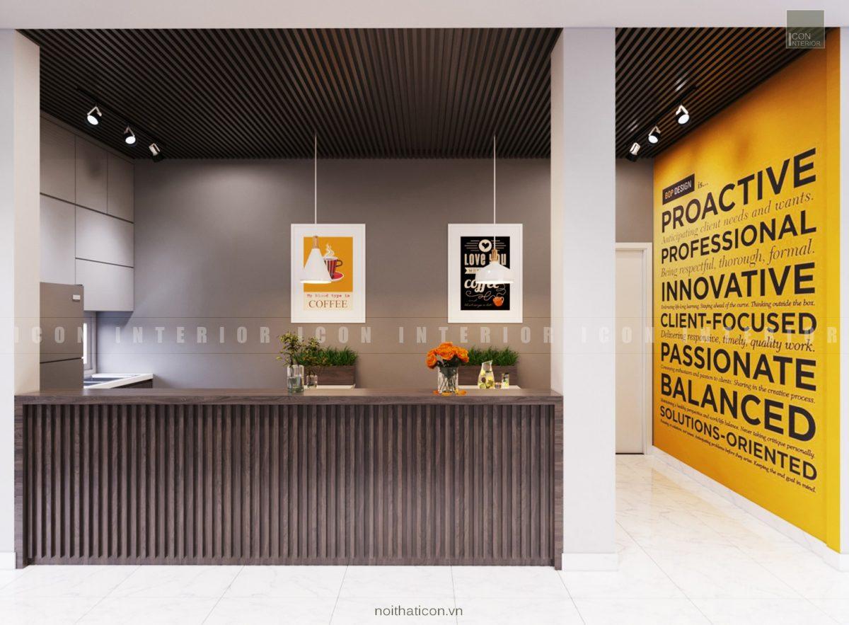 thiết kế nội thất văn phòng tphcm - lobby ảnh 1