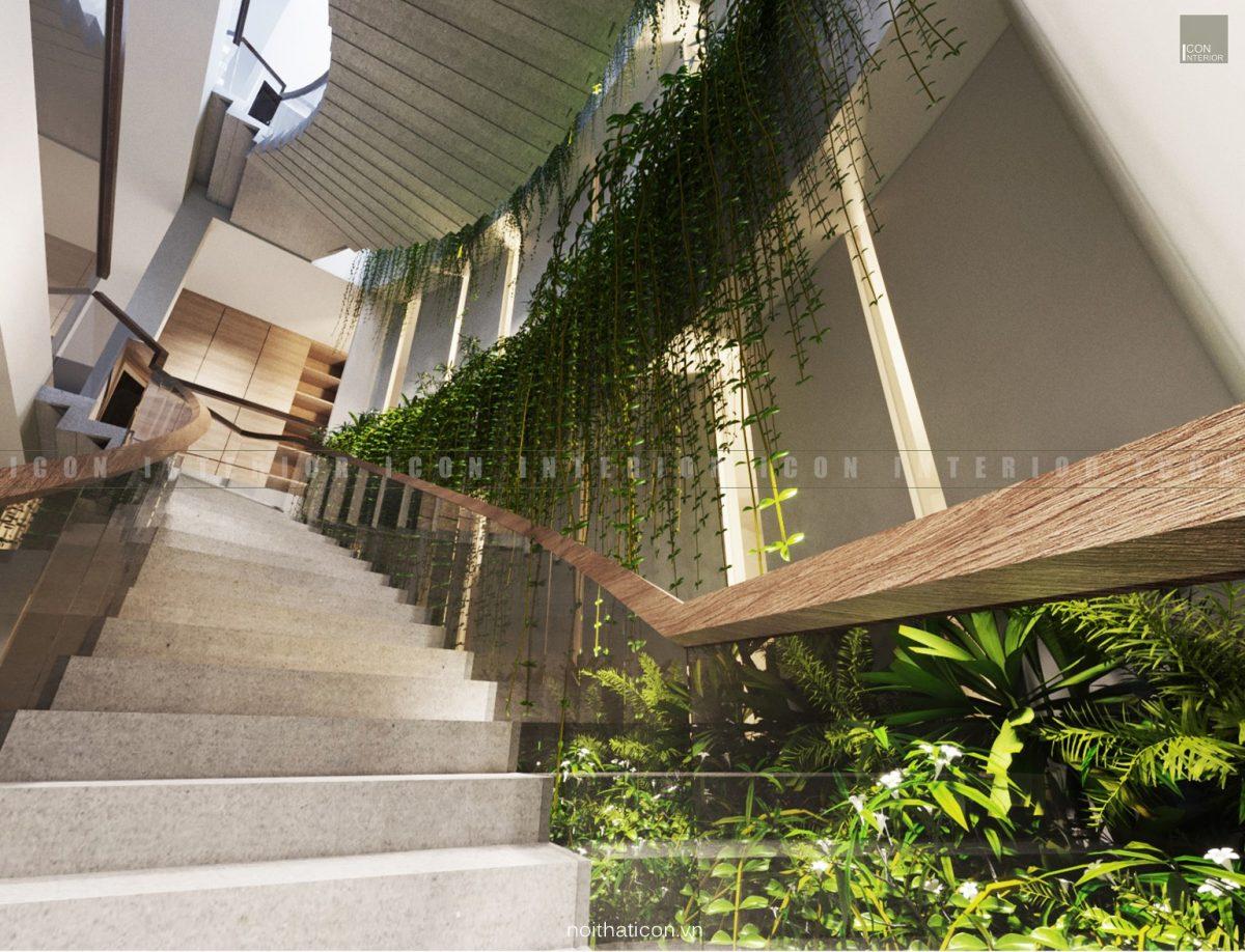 thiết kế nội thất văn phòng tphcm - cầu thang ảnh 1