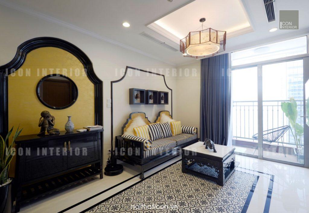 thiết kế thi công nội thất tphcm - phòng khách căn hộ