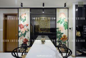 thiết kế thi công nội thất tphcm - phòng ăn căn hộ