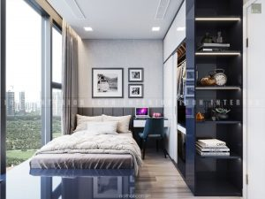phòng ngủ căn hộ vinhomes golden river
