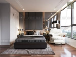 thiết kế phòng ngủ master vinhomes central park landmark 5