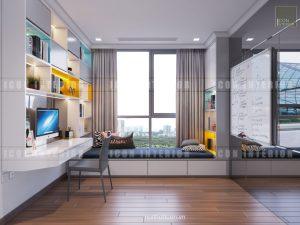 phòng ngủ nhỏ landmark 6 vinhomes central park