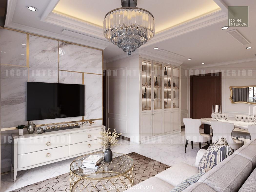 thiết kế nội thất phòng khách căn hộ chung cư đẹp