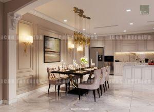 thiết kế căn hộ cao cấp vinhomes central park phòng ăn