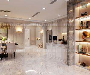 thiết kế căn hộ cao cấp vinhomes central park nhà bếp