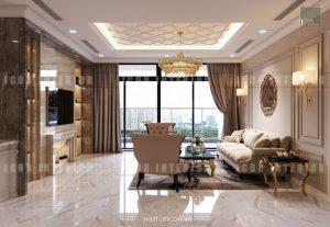 thiết kế căn hộ cao cấp vinhomes central park phòng khách