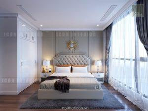 thiết kế nội thất phòng master căn hộ chung cư đẹp