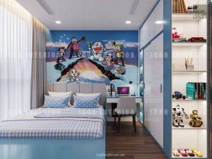 thiết kế căn hộ vinhomes central park tân cảng - phòng bé trai