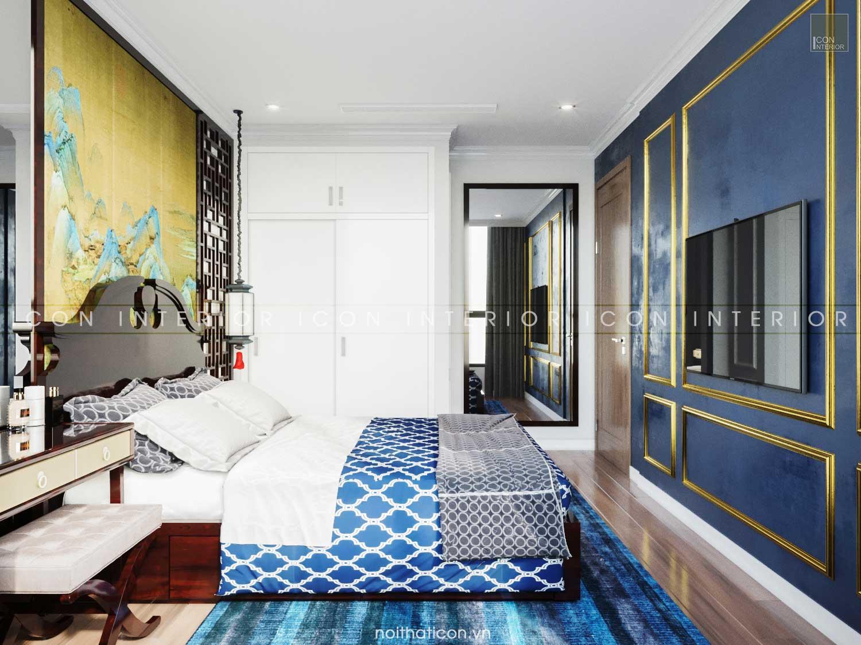 Thiết kế nội thất chung cư 70m2 Landmark 3 - phòng ngủ