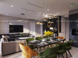 thiết kế phòng ăn vinhomes ba son golden river
