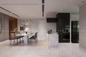 thiết kế nhà bếp căn hộ Vinhomes Central Park
