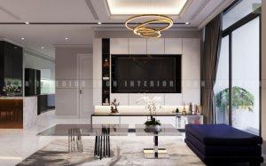 thiết kế phòng khách căn hộ Vinhomes Central Park