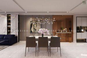 thiết kế phòng ăn căn hộ Vinhomes Central Park