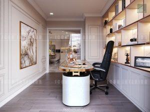 thiết kế căn hộ cao cấp vinhomes central park - phòng làm việc