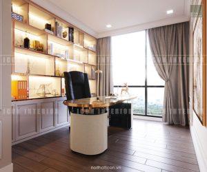 thiết kế căn hộ cao cấp vinhomes central park phòng làm việc