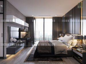thiết kế phòng ngủ master vinhomes ba son golden river