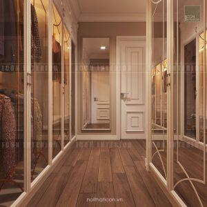 thiết kế căn hộ cao cấp vinhomes central park tủ quần áo