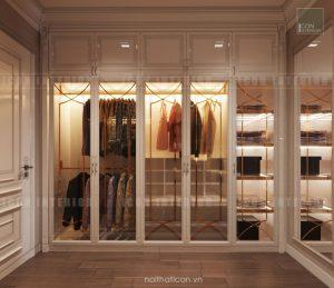 thiết kế căn hộ cao cấp vinhomes central park - tủ quần áo