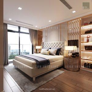 thiết kế căn hộ cao cấp vinhomes central park - phòng ngủ master