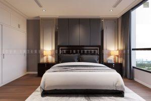 thiết kế phòng ngủ căn hộ Vinhomes Central Park