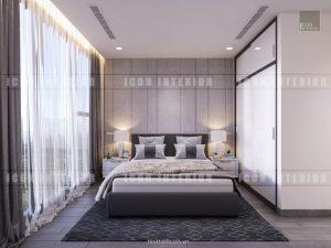 thiết kế phòng ngủ nhỏ vinhomes ba son golden river