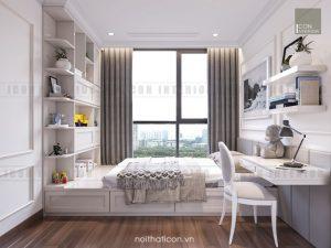 thiết kế nội thất phòng ngủ nhỏ căn hộ chung cư đẹp