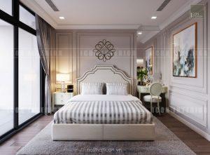 thiết kế nội thất căn hộ cao cấp vinhomes central park - phòng ngủ