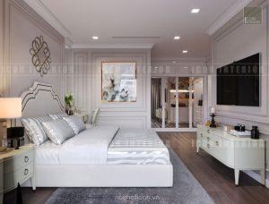 thiết kế căn hộ cao cấp vinhomes central park phòng ngủ
