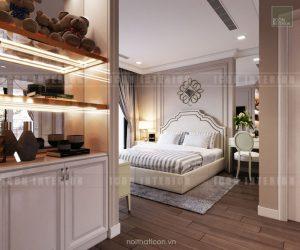 thiết kế căn hộ cao cấp vinhomes central park - phòng ngủ