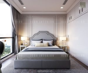 thiết kế căn hộ cao cấp vinhomes central park phòng ngủ nhỏ
