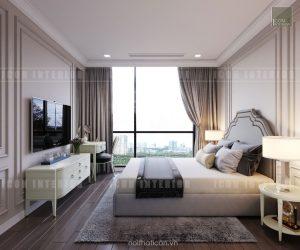 thiết kế căn hộ cao cấp vinhomes central park - phòng ngủ nhỏ