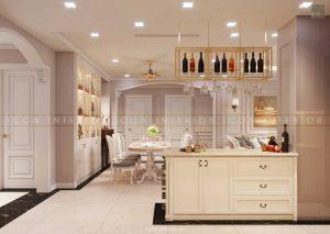 thiết kế nội thất tân cổ điển - quầy bar