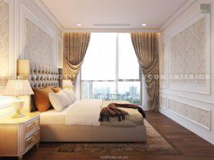 thiết kế nội thất tân cổ điển - phòng ngủ 2