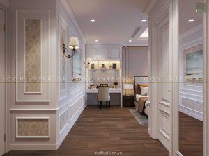 thiết kế nội thất tân cổ điển - phòng ngủ 1