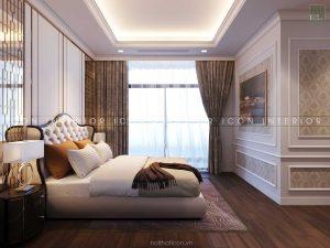 thiết kế nội thất tân cổ điển phòng ngủ master