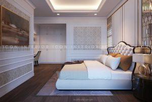 thiết kế nội thất tân cổ điển phòng ngủ