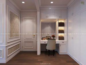 thiết kế nội thất tân cổ điển - phòng ngủ master