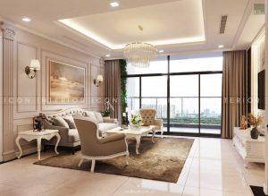 thiết kế nội thất tân cổ điển - phòng khách