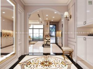 thiết kế nội thất tân cổ điển - tiền sảnh
