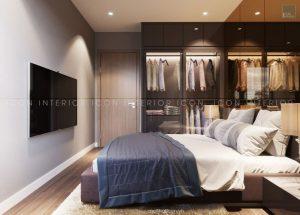 thiết kế nội thất căn hộ chung cư 65m2 phòng ngủ