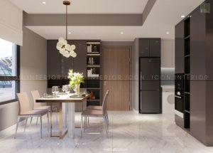 thiết kế nội thất căn hộ chung cư 65m2 phòng ăn